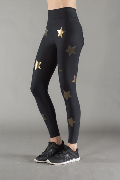 Ultra High Knockout Nero/Gold Legging
