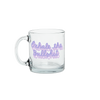 a cute glass mug that says exhale the bullshit in purple