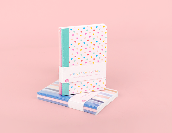 cute mini notebooks in their packaging