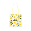 Cute tote bag with pastel background and yellow lemons pattern.