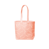 peach canvas tote with pixie sticks print