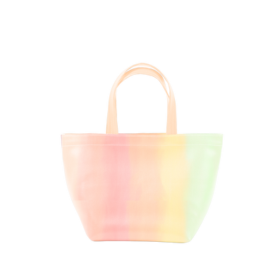 Cute tote bag in a pastel gradient print.