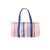 Darling Duffel with blue and purple stripes