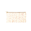 All the Things in Sundrops is a cute pencil pouch in white with pink and orange dash pattern.