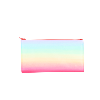 Meltdown All the Things Pouch is a cute pencil pouch in a rainbow ombre print.
