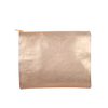 Dollface Metallic is a cute pencil pouch or cosmetics bag in gold vegan leather.