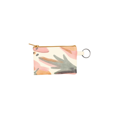 Mutey Fruity Penny Key Ring is a coin purse key ring in an abstract design and vegan leather material.