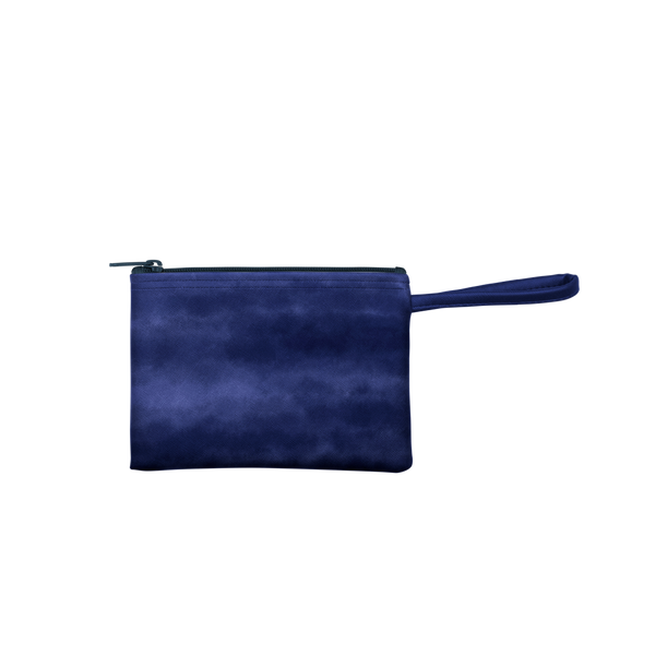 Indigo Dreams Poptart-to-Go is a small pouch wristlet in dark navy hue.