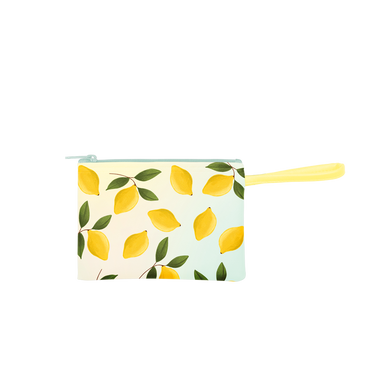 Poptart-To-Go Lemons is a small pouch wrislet in yellow with lemons pattern.