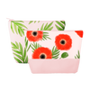Tweedle Dums in Buds and Poppies are cute cosmetics bags with zippered top.