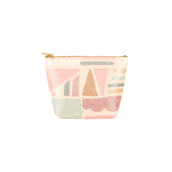 Fruit Basket Tweedle Dee is a cute cosmetics bag with a geometric fruits pattern.