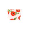 Tweedle Dee cosmetics pouch with Poppies floral print