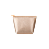 Tweedle Dee Metallic Gold is a cute cosmetics bag in vegan leather.