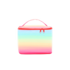 Cute cosmetics case with rainbow ombre print. -- Meltdown