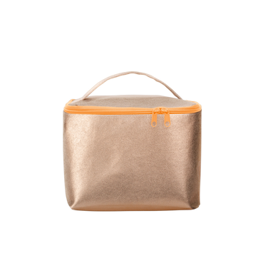 Soulmate Metallic is the perfect large toiletries bag with a carrying handle.