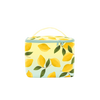 Cute cosmetics pouch with lemons print.