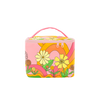 Cute colorful cosmetics pouch with retro floral print. -- In the Groove