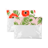 Dollface Pouch is a clear pencil pouch crafted from vinyl in Buds or Poppies print.