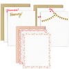 Hooray Set is a cute stationery set with celebratory patterns in 3 designs.