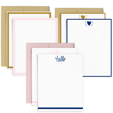 Shine Stationery Set features 3 unique designs in 2 color options.