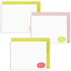 Hello Bubble Set is a cute stationery set with colorful speech bubbles and flat cards.