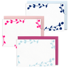 Floral Flat Stationery Cards is a cute stationery set with colorful florals and leave details.