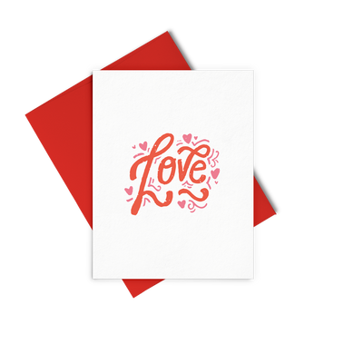 Love Lettering is a love greeting card with a red envelope.