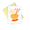 Send Noods is a cute greeting card with a bowl of noodles and a yellow envelope.