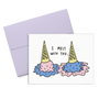 Melt With You is a cute greeting card with melted ice cream and a lilac envelope.