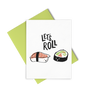 Let's Roll is a cute greeting card of sushi rolls and includes a citron envelope.