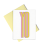 Yo is a cute greeting card with yellow and pink lettering and a yellow envelope.