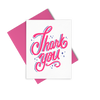 Thank You Sparkles is a cute thank you card with hot pink lettering and envelope.