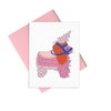 Pinata greeting card is a cute birthday card with a pink envelope.
