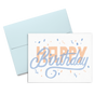 Happy Birthday Confetti is a cute birthday card with a light blue envelope.