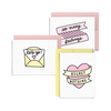 No Regrets Set is a cute stationery set with three sassy and colorful designs.