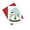 Snow Family is a cute holiday greeting card of a snowman family in a snowglobe.
