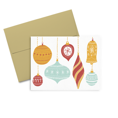 Ornaments is a cute holiday greeting card featuring beautiful vintage ornaments.