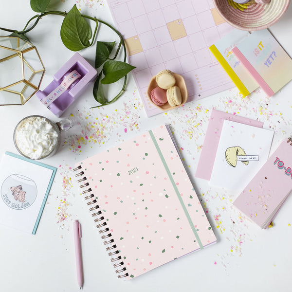 Pink Terrazzo 2021 Dated Planner
