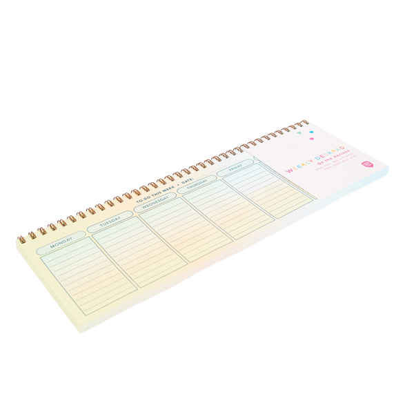 colorful wire bound weekly task pad by day