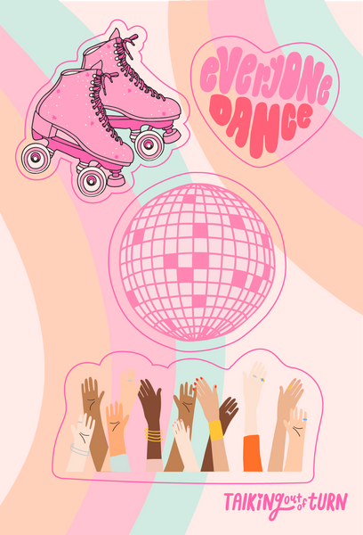 A disco inspired sticker set