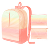 a ripstop backpack with a pastel gradient print.