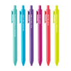 6 colorful jotter pens with different sayings