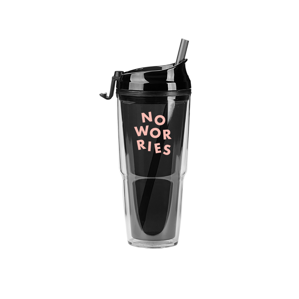 No Worries Smoke Plastic Tumbler - Talking Out Of Turn - [product_description]