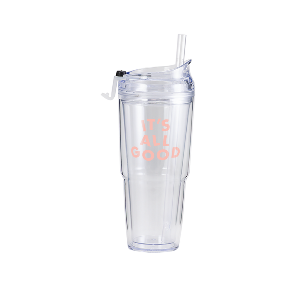 It's All Good Clear Plastic Tumbler - Talking Out Of Turn - [product_description]