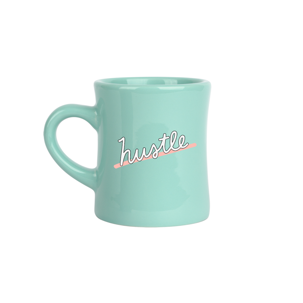 Hustle Mint Diner Mug - Talking Out Of Turn - [product_description]