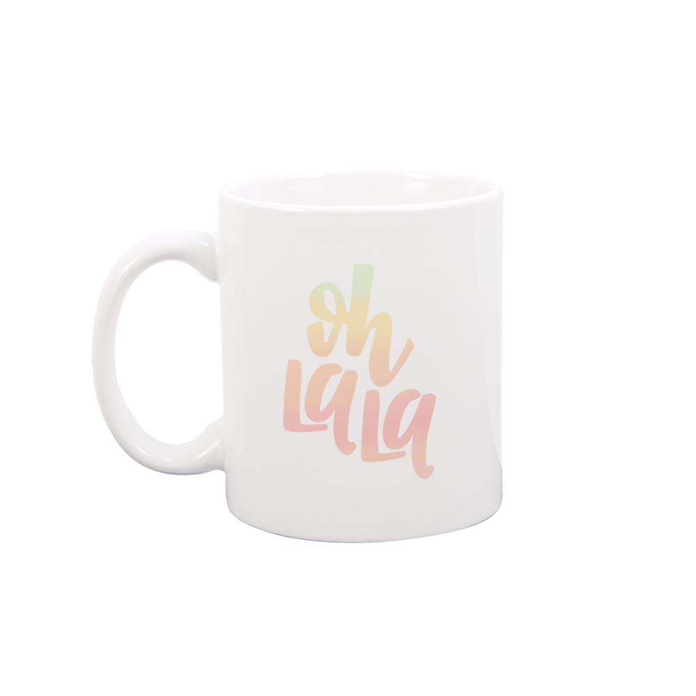 Oh La La White Mug - Talking Out Of Turn - [product_description]