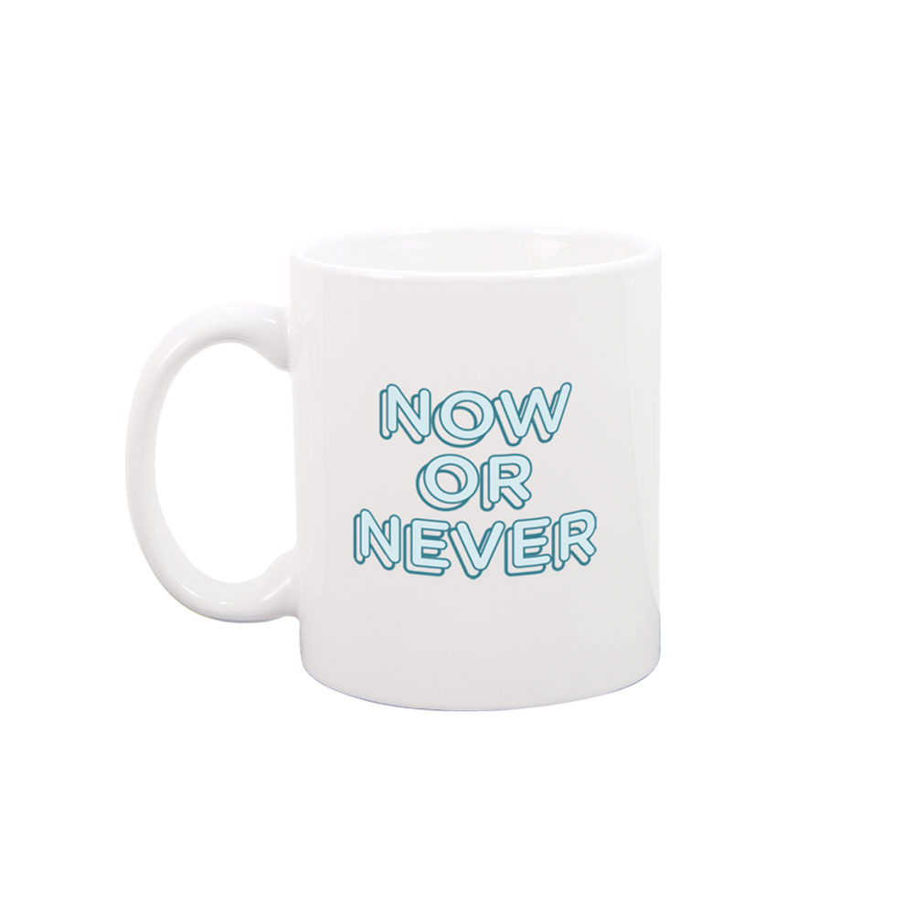 Now or Never White Mug - Talking Out Of Turn - [product_description]