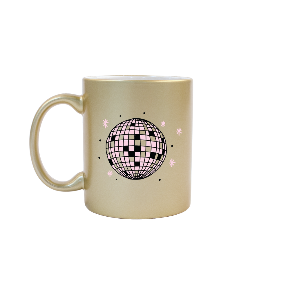 Disco Ball Gold Mug - Talking Out Of Turn - [product_description]