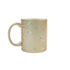 Splatter Gold Mug is a cute coffee mug in gold with paint splatter.