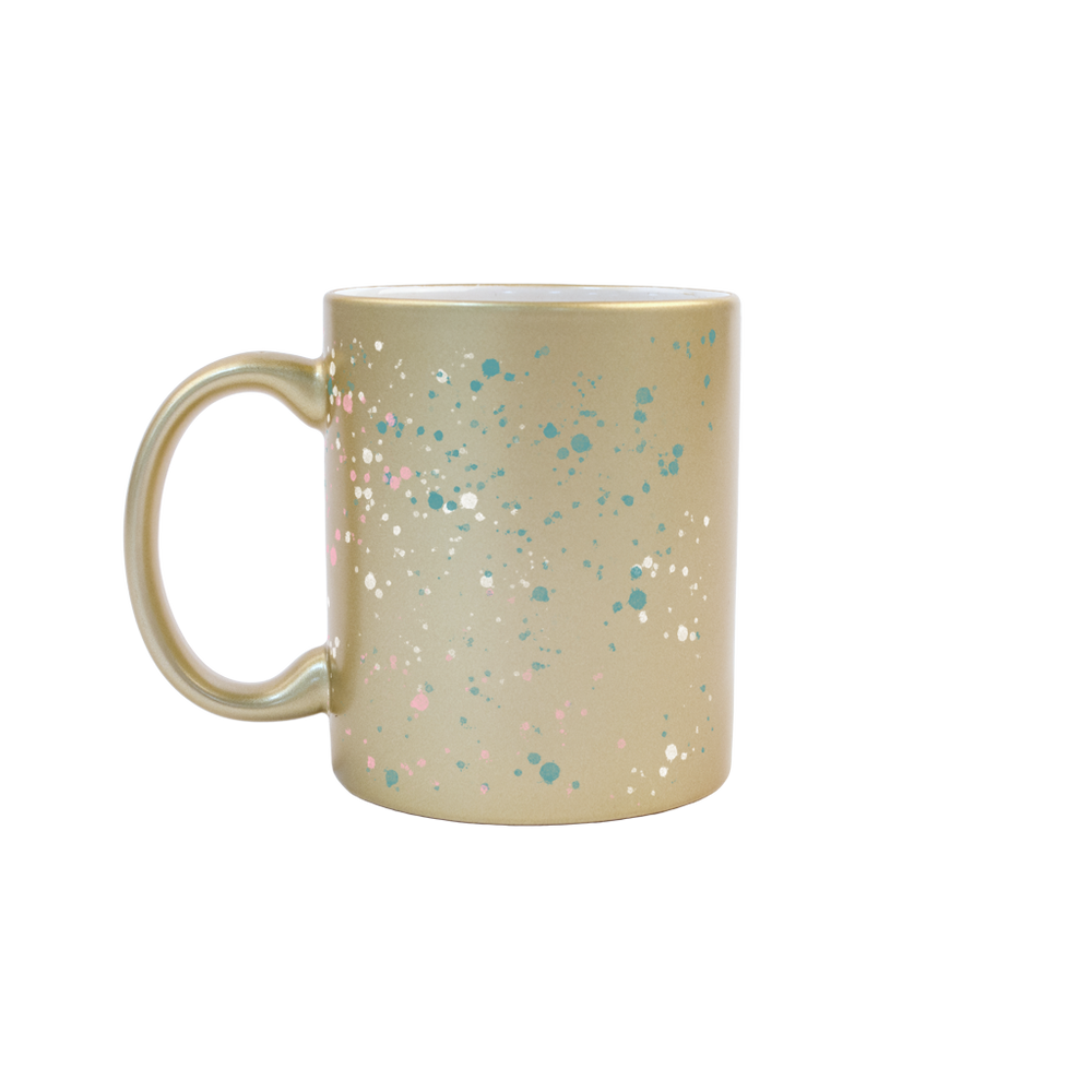 Splatter Gold Mug - Talking Out Of Turn - [product_description]